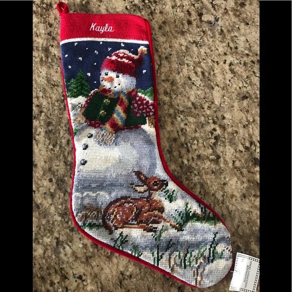Needlepoint Christmas Stockings.Needlepoint Christmas Stocking Kayla Nwt
